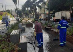 Prefeitura de Jandira realiza desinfecção em espaços públicos para combater o novo coronavírus