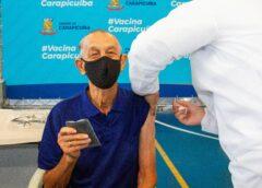 Prefeitura de Carapicuíba inicia dose de reforço para idosos com mais de 80 anos
